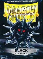 Dragon Shield Black Classic 60ct Standard Sized Sleeves (AT-10702) new