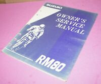 1994 Suzuki RM80 Motorcycle Factory Owner's Service Manual 99011-02B70-03A