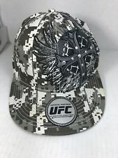 MMA Elite UFC Gray Digital Camo Fitted S/M Baseball Cap Hat With Tag 7 1/2