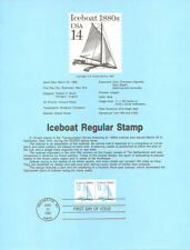 #8515 14c Ice Boat Coil Stamp - Scott #2134 USPS Souvenir Page