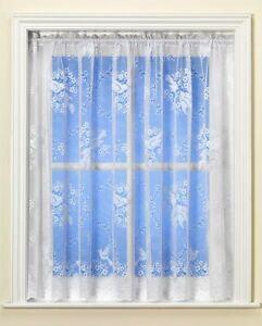 Best Selling Lovebirds / Birdsong White Net Curtain Great Value - UK Seller