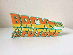 Back to the Future Movie Logo Text BTTF Retro Display Ornamental Collectible Car