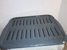 2 pc. Broiler Pan Oven Grill Nonstick Rectangle Cooking Broiling pan- gray