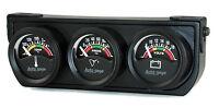 """Auto Meter Autogage 3 Gauge Oil Press /Volt /Water Temp Black  1-1/2"""" (Color)"""