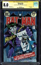 BATMAN #251 CGC 8.0 OWW SS SIGNED 2Xs NEAL ADAMS AND DENNY O'NEIL #1604520013