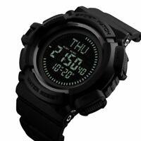 SKMEI Outdoor Sport Mens Military Digital Watch Compass Alarms Quartz Wristwatch