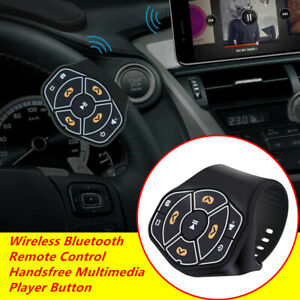 Wireless Handfree Steering Wheel Player Remote Control Button For Android iPhone