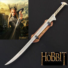 The Hobbit Elven King Thranduil Sword with Plaque