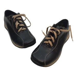 BORELLI Sylvestor 120744 Men's Black Tan Casual Tie Dress Shoes Size 7.5