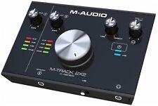 M-Audio M-Track 2x2 24-Bit 192 kHz USB Audio-Interface | Studio Soundkarte