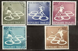 TOGO 1964 '' OLYMPIC GAMES,TOKYO '' SET POST+AIR USED (55)