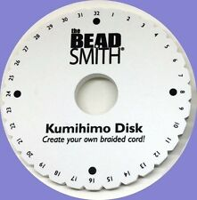 """LOT of 2 Kumihimo Round Disk Plate 6 inch Japanese BRAIDS Bulk Packaging 6"""" Disc"""