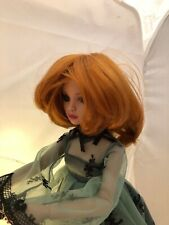 Doll WIG size 6-7 cute RED bangs - fits Ellowyne Wilde, Evangeline Ghastly