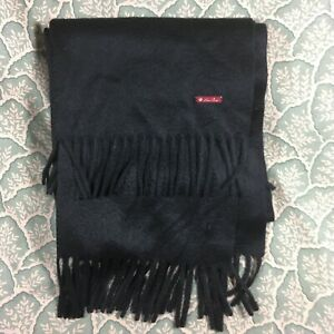 Loro Piana 100% Cashmere Black Men's Scarf