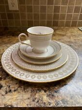 Lenox Marchesa Gilded Pearl 5 Piece Place Setting White New