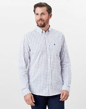 Joules Mens Welford Long Sleeve Classic Fit Check Shirt - White Pink Check