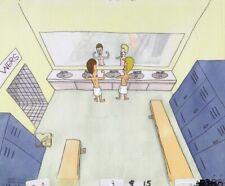 BEAVIS & BUTTHEAD Animation Art Original Production Cel Cell MTV 1990's Showers