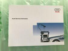 100% ORIGINAL AUDI SERVICE BOOK A1 A2 A3 A4 A5 A6 A7 Q2 Q3 Q5 Q7 FOR ALL MODEL