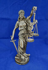 Themis Goddess of Justice cold cast bronze sculpture statue artifact