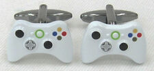 New Novelty Detailed Pair of Xbox 360 White Controller Cuff Links in Gift Box