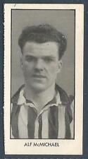 D C THOMSON-WORLD CUP FOOTBALLERS-1958-#08-NEWCASTLE & /N IRELAND-ALF McMICHAEL