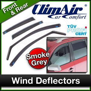 CLIMAIR Car Wind Deflectors JAGUAR XF 2008 to 2015 Front & Rear SET