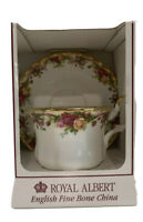 Royal Albert Old Country Rose, Ruby Celebration Chintz Tea Cup & Saucer New