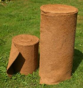 Kokosmatte 2,5 m x 1 m, Winterschutz, Kokosfasermatte, Pflanzkübel