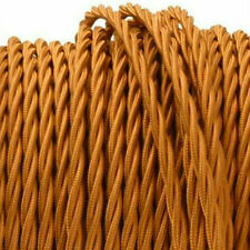 COPPER TWIST vintage style textile fabric electrical cord cloth cool cable 1m