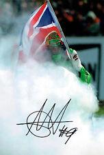 Chris WALKER The Stalker Autograph Signed Kawasaki Photo British Rider AFTAL COA