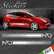 Strisce adesive fiancate laterali Alfa Romeo MITO fasce logo BIG
