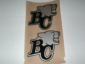 "CFL BC-LIONS ""ICE"" FULL SIZE FOOTBALL DECALS"