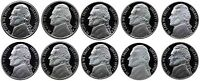 1990-1999 S Complete Set Jefferson Nickel Gem Proof Run 10 Coins US Mint 1990's