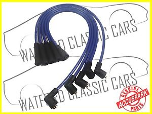 AccuSpark 8mm Ford Crossflow / X-Flow High Performance Ignition HT Leads BLUE