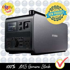 Hyundai 1500W / 3000W max LiFePO4 Lithium Power Station AC/DC - 90Ah Battery