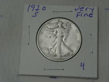 1920 S   FINE - VERY FINE  WALKING LIBERTY  HALF DOLLAR #4