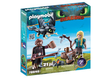 Playmobil 70040 Dreamworks Dragons Hiccup and Astrid with Baby Dragon MIB / New