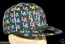 "Snapback Cap LOS ANGELES ""LA"" Black Monogram Multi-Colour LA Size M 7.25 58cm"