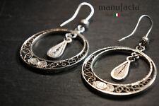 ITALIAN Filigree earrings HANDMADE | ORECCHINI DONNA ARGENTO 925-ricamati a mano
