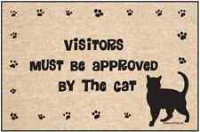 Visitors Must Be Approved by the Cat Door Mat- 18 x 27 - Humorous Welcome Mat