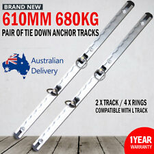 NEW 610mm Anchor Track (2x Track / 4x Rings) Tie Down Trailer Caravan Float