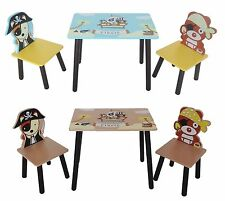 Bebe Style Childrens Pirate Wooden Table and Chair set Kids Toddlers Childs Kids