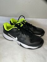 🔥Nike Court Lite 2 Men's Tennis Shoes Sz 11.5 AR8836-009 Black/Volt/White New🔥