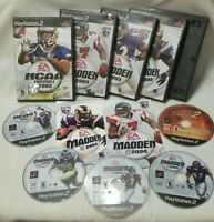 Lot of 5 PS2 Playstation NCAA Football 3 Madden 1 ATV OffRoad Fury 2 not tested