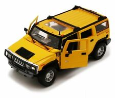 HUMMER H2 SUV 1:27 Scale Diecast Metal Car Model Die Cast Models Cars Yellow