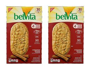 2 Big Boxes BelVita Breakfast Cookies Kosher Biscuit Fiber Cinnamon 1.76 oz  60c
