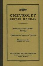 Chevrolet Car & Truck 1933 Shop Manual Chevy