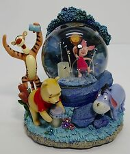 "Rare Disney's Winnie the Pooh & Friends ""Catching Fireflies"" Musical Snow Globe"