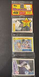 1985 Topps UNOPENED RACK PACK(48), Don Mattingly on TOP, Puckett/McGwire ROOKIE