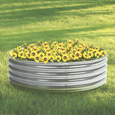 Galvanized Steel Round Raised Garden Planter Bed - 4ft. x 12in.